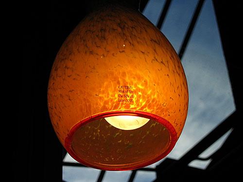 [Blown-glass lamp]