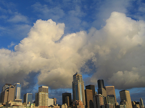 [Cloud over the Seattle skyline]