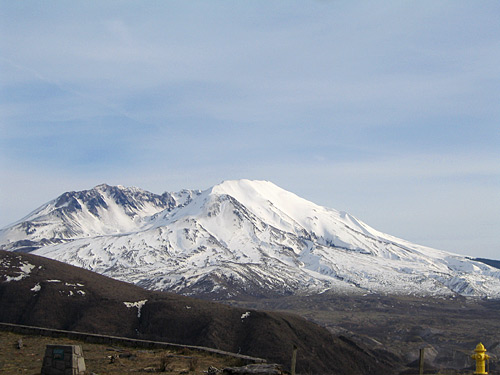 [Mt. St. Helens view with fire hydrant]
