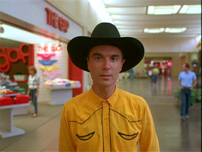 [David Byrne - still from True Stories]